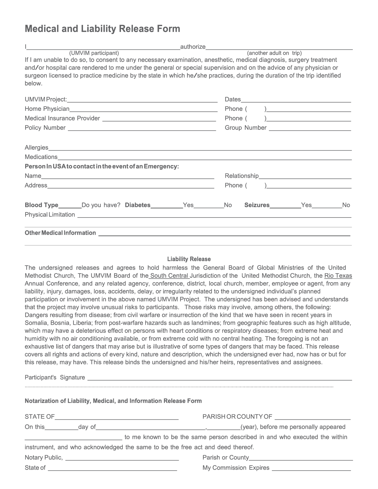related post. tag general liability release form example. liability ...